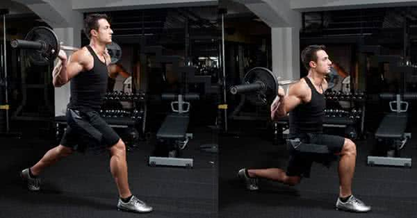 Do the Lunges with an extra workload you can't do more than 20 reps