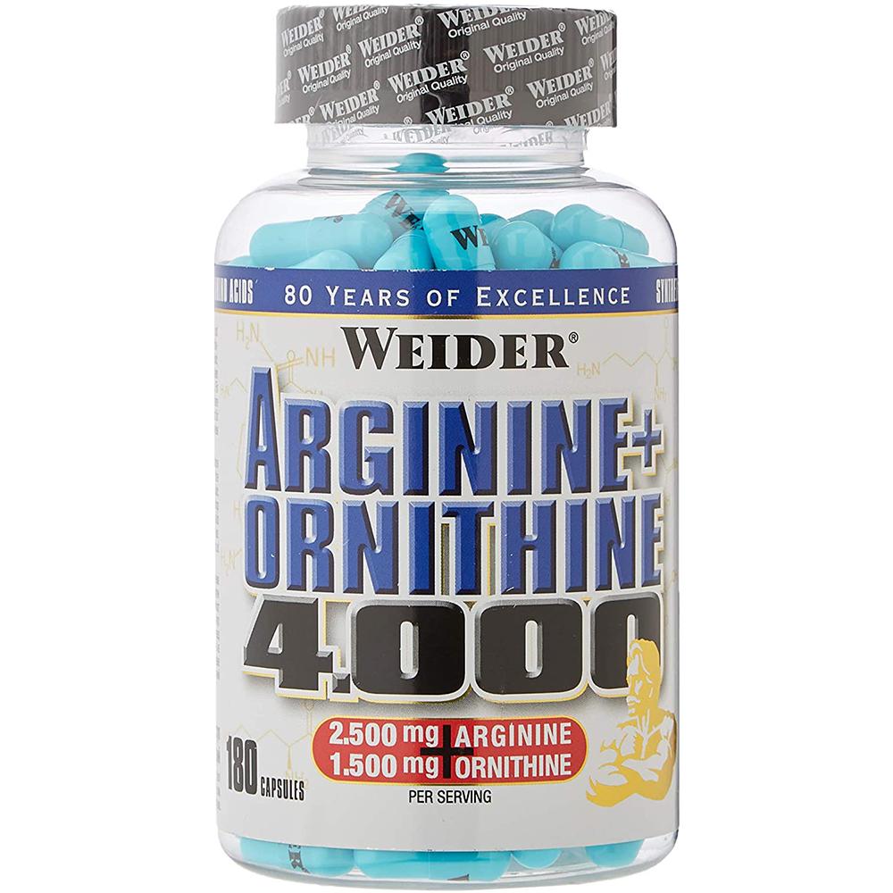 Weider Nutrition Arginine + Ortnithine 4.000 180 kaps
