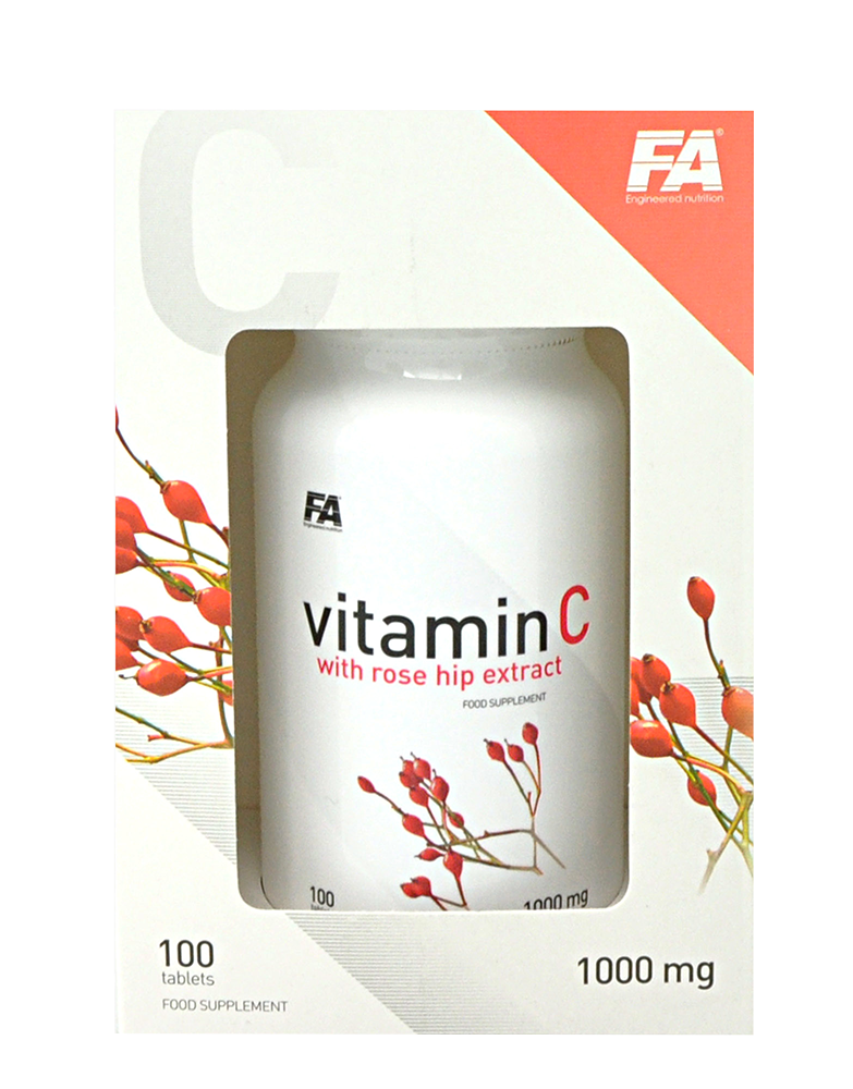 Fitness Authority Vitamin C with Rose Hips 100 kaps