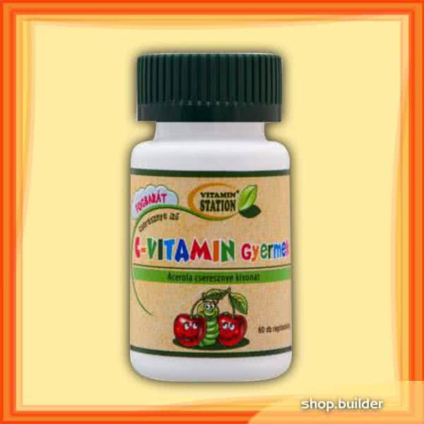 Vitamin Station Vitamin C for children 60 ž.t.