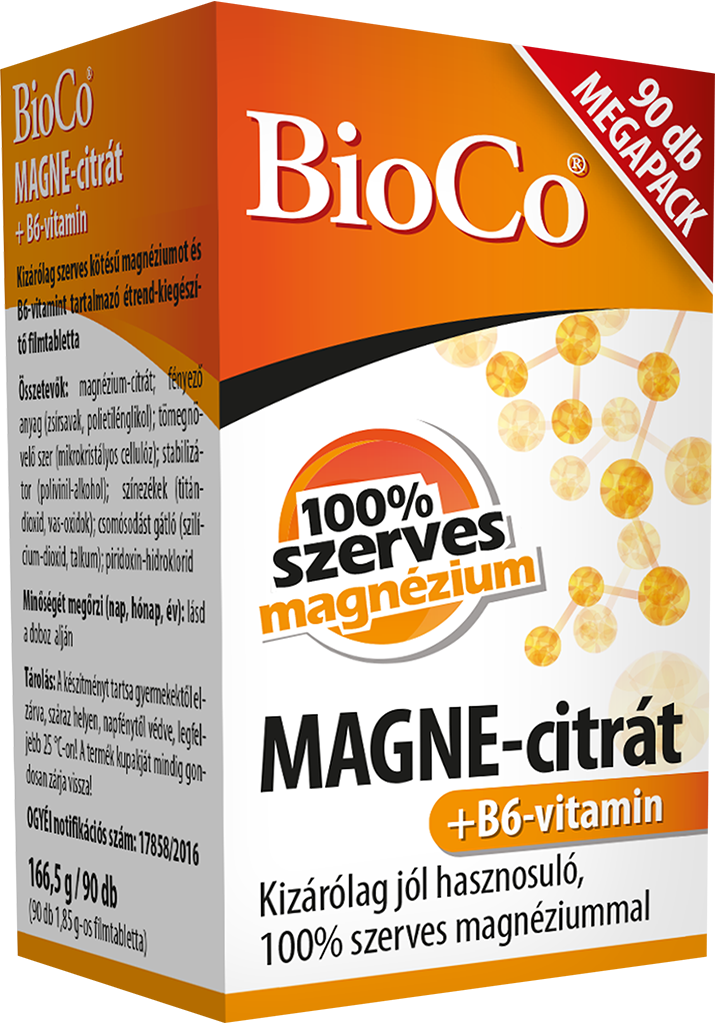 BioCo MAGNE-citrate+ Vitamin B6 90 tbl.
