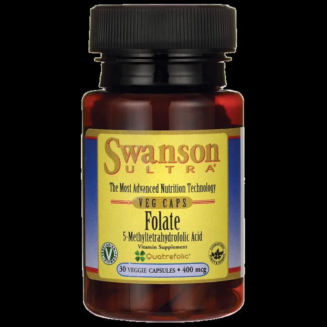 Swanson Folate 400mcg (Swanson Ultra Line) 30 kaps