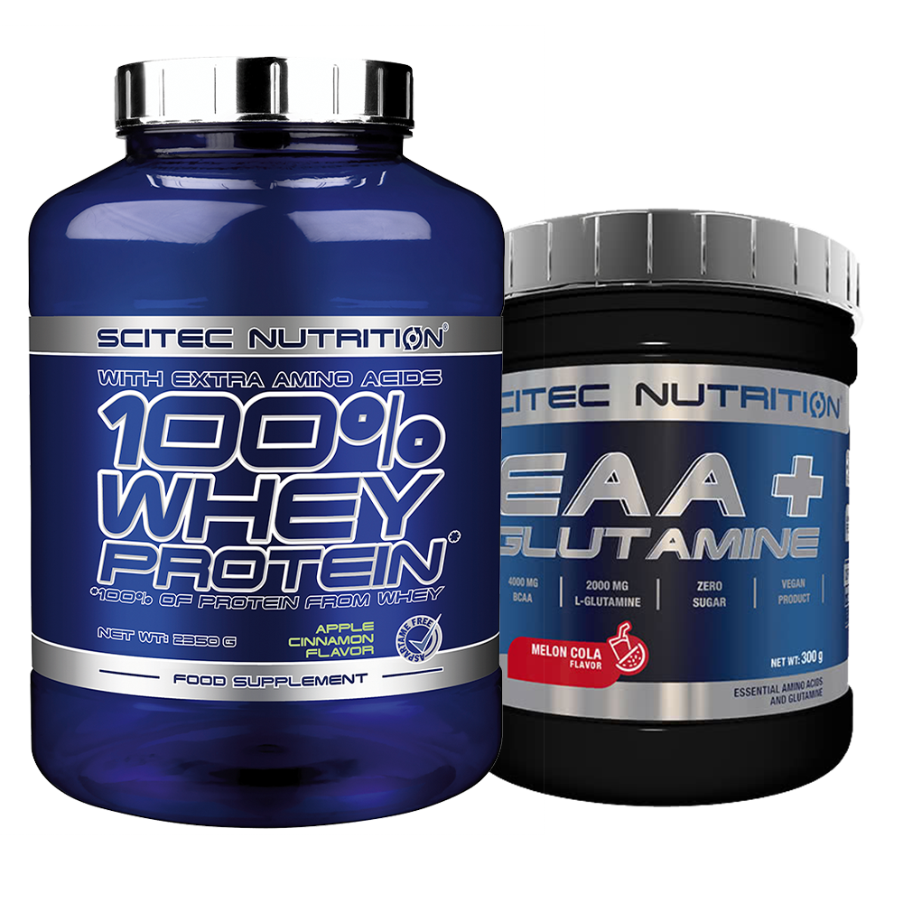 Scitec Nutrition 100% Whey Protein + EAA+Glutamine set