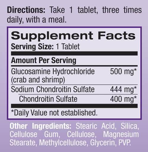 Natrol Glucosamine-Chondroitin 60 tbl.