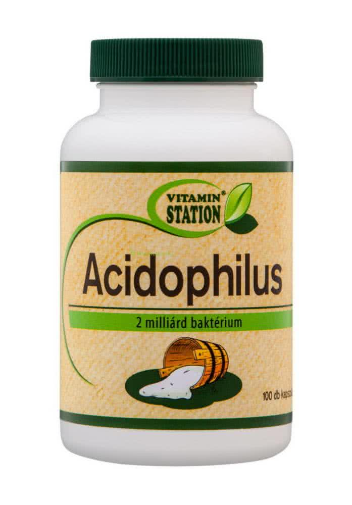Vitamin Station Acidophilus 100 kaps