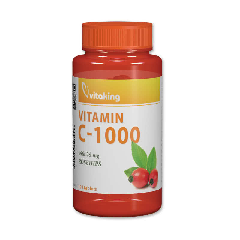VitaKing Vitamin C-1000 with Rose Hips 100 tbl.